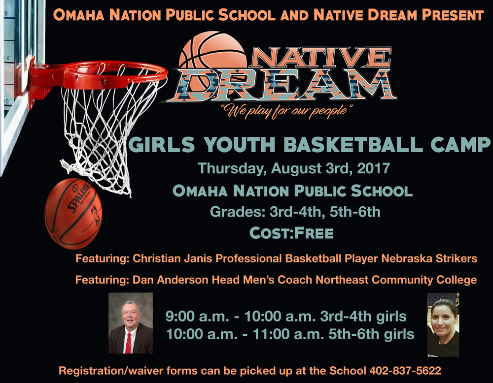 Free Girls Youth B-Ball Camp